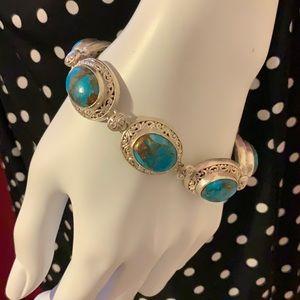 .925 Sterling Turquoise Bracelet